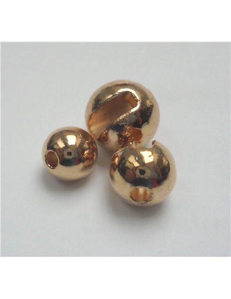 Brass Beads - Light Pink - metalic